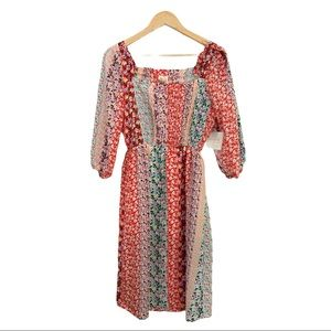 Anthropologie Dress Small Floral Fig & Flower NWT